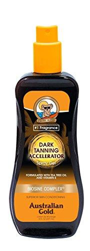 Australian Gold Dark Tanning Accelerator Spray Gel, 8 Ounce | Moisturize & Hydrate Skin