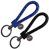mandoma Llavero para hombre y mujer – 2 colgantes para llaves negro - azul oscuro Talla única