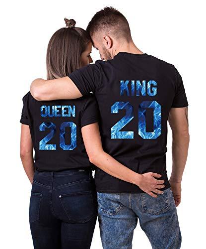 Daisy for U 2020 Neu T-Shirts Hoodie King Queen Shirts 1 Stücke-Schwarz-blau-Queen(Damen)-M