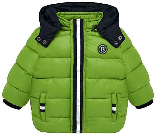 Mayoral Baby Jungen Winterjacke mit Kapuze warme Steppjacke, Größe:68, Farbe:Pistazie