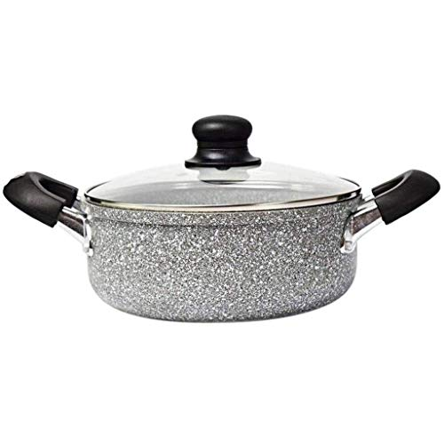 Stone Soup Pot, Non-Stick Cooker Soup Pot Hot Pot Household Gas Universal Side Pot Furnace HRSS