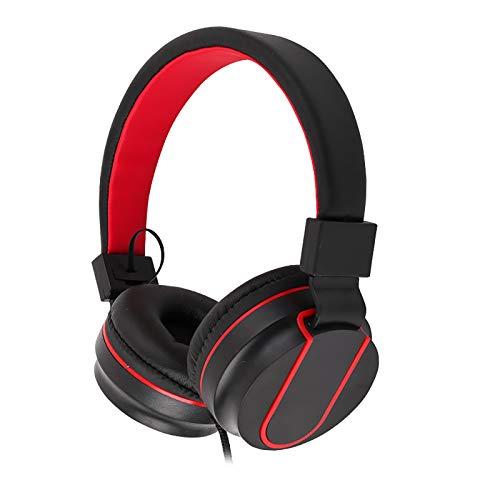 Feigner - Auriculares inalámbricos con Bluetooth y micrófono estéreo envolvente plegable sobre la oreja, cancelación de ruido activa, graves pesados, inalámbricos, para la escuela, viajes, trabajo