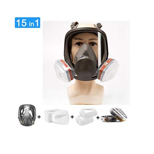 Volgelaatsmasker Gasmasker Professioneel organisch stoommasker voor verfstof Chemische bestrijdingsmiddelen Bescherming van gasverf Diverse chemicaliën