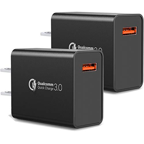 [2-Pack] QC Fast Charging Adapter,18W Quick Charge Wall Charger Adapter Fast Charging Block Compatible Wireless Charger Compatible with Samsung Galaxy S10 S9 S8 Plus S7 S6 Edge Note 9, Kindle