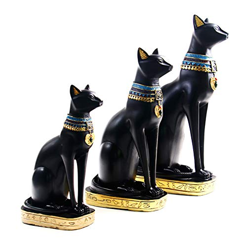 KingbeefLIU Diosa Egipcia Bastet Gatos Figura De Colección Estatua Decoración De Oficina En Casa Gadgets Simples Decoraciones Navideñas Regalos De San Valentín LNone