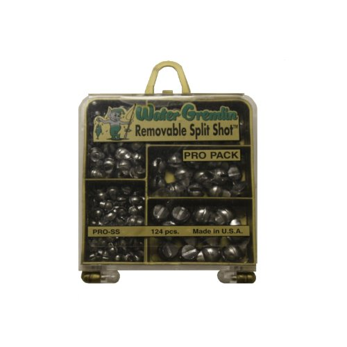 Water Gremlin Removable Split Shot Pro Pack 48ea/BB 36ea/3/0 16ea/7 12ea/5 12ea/4 Multi