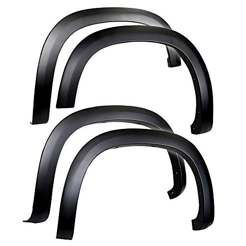 Tyger Auto TG-FF6C4338 for 2019-2021 Chevy Silverado 1500 | Paintable Fine-Textured Matte Black Factory Style Fender Flare Set, 4 Piece