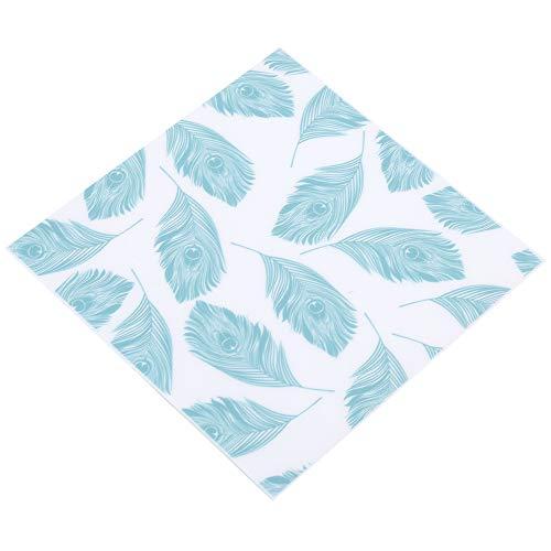 Decoración de pared, adhesivo para azulejos de suelo impermeable 10 unids/set material de PVC con patrón de hojas verdes para decoración del hogar para sala de estar