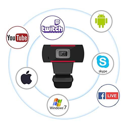 JideTech Webcam para PC 1080P con micrófono, USB para computadora portátil, conectar y Usar, cámara Web para conferencias Web, MSN y Skype miniatura