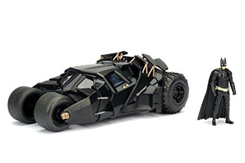 Jada Toys DC Comics 2008 The Dark Knight Batmobile With Batman figure; 1:24 Scale Metals Die-Cast Collectible Vehicle