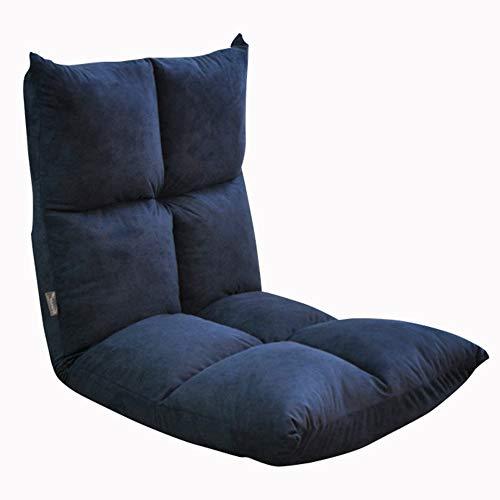 LJFYXZ Canapé Paresseux Chaise Réglage à 5 Vitesses Chaise Longue Confortable et Respirant Salon Chambre Facile à Ranger 2 Couleurs (Couleur : Bleu)