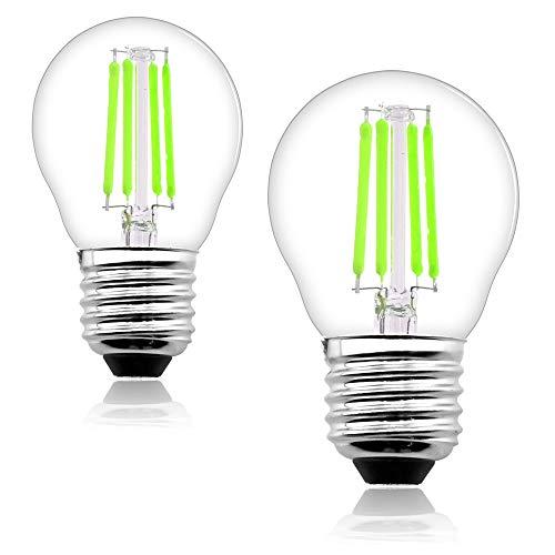 Bonlux G45 LED Lampe 4W E27 Filament Grün Beleuchtung AC85-265V 330° Ausstrahlwinkel Glühdraht Farbe Leuchten für Dekorative(2-Stück, Nicht Dimmbar)