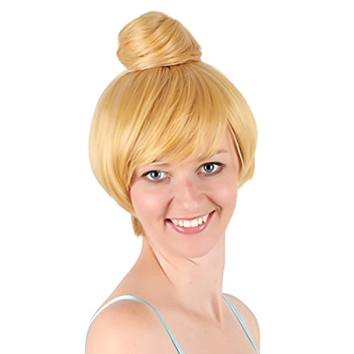 30cm Damen Kurze Blonde Fee Tinkerbell Partei Haar Cosplay Perücke