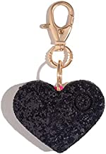 Personal Safety Alarm for Women - Ahh!-larm! Emergency Self-Defense Security Alarm Keychain with LED Light, Purse Charm, Black Glitter Heart