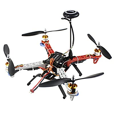 QWinOut 330mm DIY RC Drone Kit F330 Frame RC Quadcopter 4-Axle UFO Unassembly Kit 6M GPS APM2.8 Flight Control for Beginners (No Battery and Remote Controller) by QWinOut