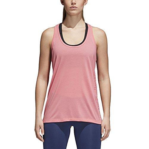 adidas Camiseta de Tirantes para Mujer Cz9642, Mujer, Camiseta de Tirantes Anchos, CZ9642, Chapnk, Extra-Small