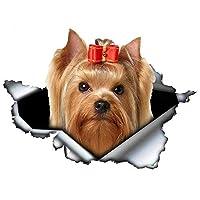 車 ステッカーデカール-ヨークシャーテリアかわいいペットの犬の車のステッカー防水デカールオートバイカーアクセサリー装飾PVC13cmx12cm-スタイルC
