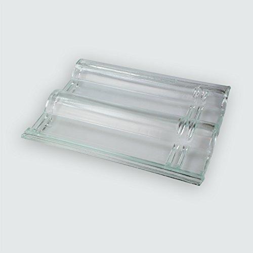 Glasdachziegel Frankfurter Pfanne Massives Echtglas 33x42cm