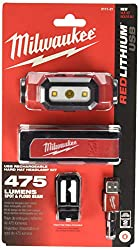 powerful Milwaukee Electric Tools 2111-21 USB Rechargeable Headlights, Red