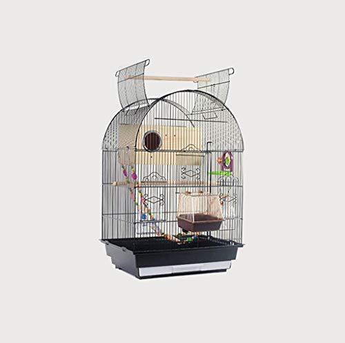 Space- rack Z-W-Dong Gabbie Black Parrot Uccello, Ferro battuto Robusta Superficie Liscia Voliere Mostra Gabbie - Top può Essere Aperto Uccelli/Gabbie (Color : B, Size : 47 * 36 * 68CM)