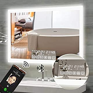 Best led bathroom mirror with clock Reviews