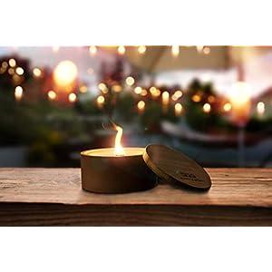'Ahi' by Murph & Monty | Beton Outdoor Kerze | Wachsfresser Windlicht für Balkon und Garten | unendliche Brenndauer