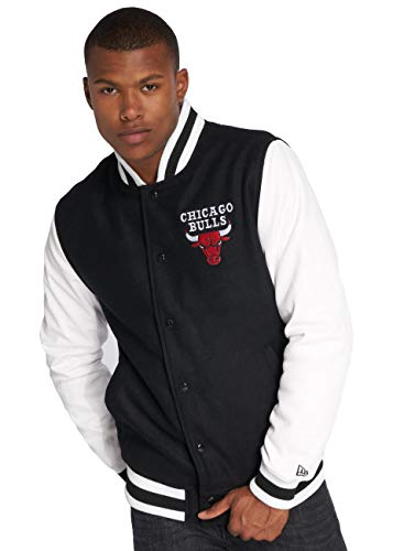 New Era Herren College Jacke NBA Contrast Chicago Bulls schwarz XL