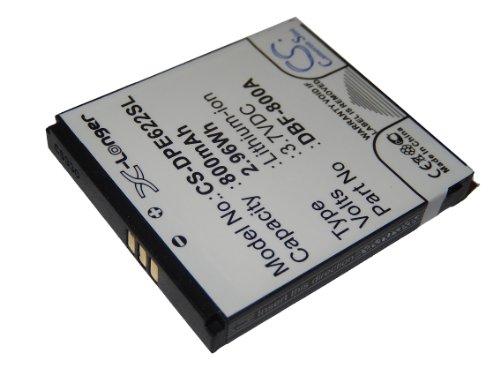 vhbw Li-Ion Akku 800mAh (3.7V) für Smartphone, Handy, Handy Doro PhoneEasy 613, 631, 632 wie DBF-800A.