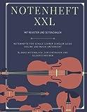 Notenheft XXL mit Register und Seitenzahlen Notenhefte für Schule Lehrer Schüler Geige Violine und Musik Unterricht Blanko Notenblock zum Eintragen und Selberschreiben