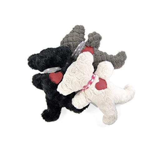 """Muffy Teddy """"We Love Berlin"""" Hundespielzeug aus Plüsch - Handgefertigt - Koko von Knebel (Weiß, M)"""