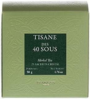Pasticceria Passerini dal 1919 Dammann Tisane Des 40 Sous - Infusión de limón, tomillo y Regaliz, 25 bolsitas - Dammann Frères