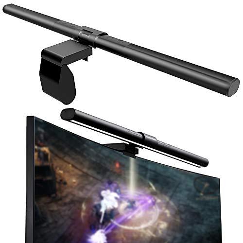 HIMAKOVO Lampara de Luz de Monitor, Lámparas de Pantalla USB con sin Reflejos en la Pantalla, Brillo de Temperatura de Color Ajustable para Monitor LCD