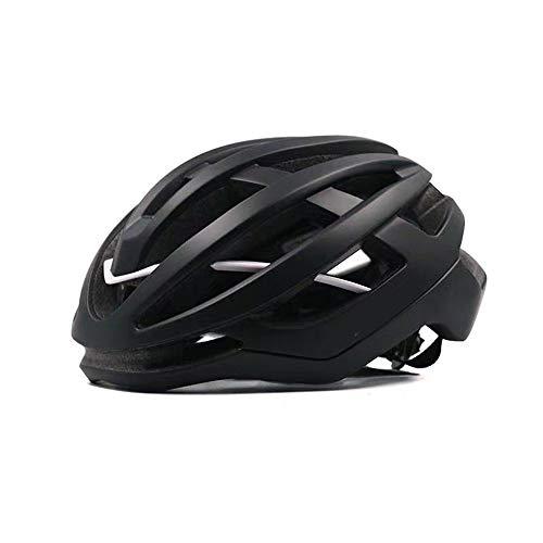 ZZZ Casco de ciclismo para hombre y mujer bicicleta de carretera neumática de una pieza de seguridad sombrero de bicicleta de montaña equipo (color: blanco negro, tamaño: L)