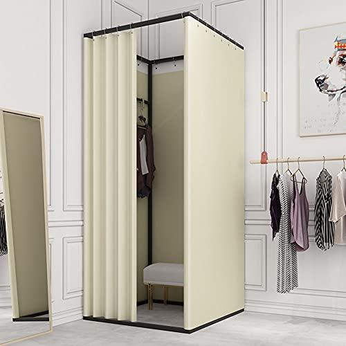 LXHONG Umkleidekabine, Umkleidekabine Für Bekleidungsgeschäfte Sichtschutz-Trennwand aus Verdunkelungsstoff Geeignet Für Einkaufszentren Büro Schlafsaal