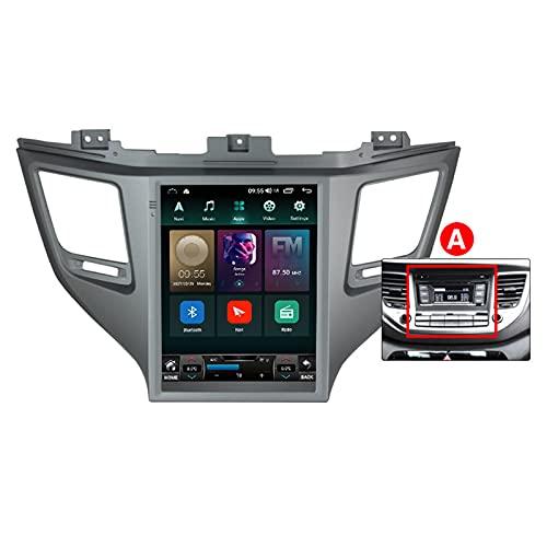 ADMLZQQ para Hyundai Tucson 2015-2018 Android 10.0 In-Dash Radio Estéreo para Automóvil Pantalla Táctil De 9.7 Pulgadas Bluetooth GPS FM Am DSP Cámara Trasera Control del,A,TS3 8core3+32