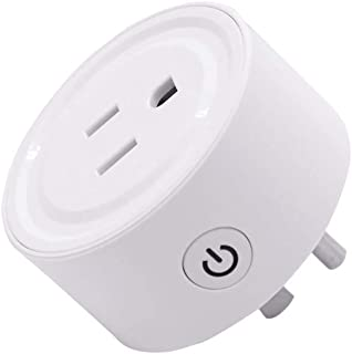 DDgrin Wi-Fi Smart Plug Socket Outlet,Compatible US Plug Switch for Amazon Alexa/Google Home App Control,Wireless Remote Control Your Devices,Energy Saving Smart Socket with Timer