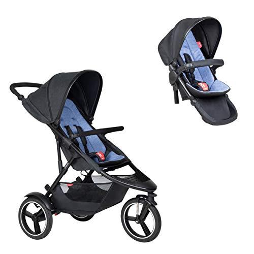 Phil&teds Dash Buggy avec assise de couleur ciel + double kit (siège) avec assise dans la couleur ciel