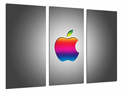 Poster Fotográfico Logo Apple de Colores, Tecnologia, Manzana Tamaño total: 97 x 62 cm XXL