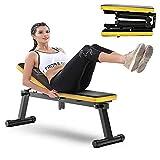 WeiJX Ajustable Banco de Ejercicio con Pesas, Robusto Marco de Acero - La Carga 200 kg, 3 Regulables en Altura portátil Plegable, Excepto Espacio para Body Fitness Workout