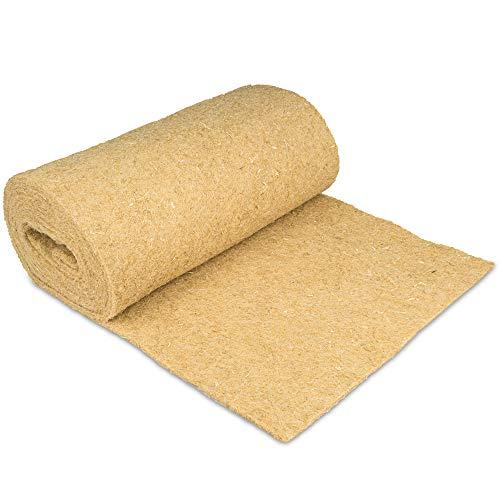Nagerteppich aus 100% Hanf auf Rolle mit 5m Länge, 60cm Breite, 5mm dick (8,63 Euro / m2) Hanfteppich für alle Arten Kleintiere, Hanfmatte Nagermatte Nager-Teppich