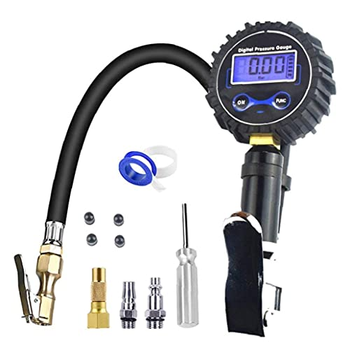 Sraeriot Inflador De Neumáticos Digitales Con Manómetro Acuracto 200 Psi Accesorios De Compresor De Aire, Herramienta Inflable