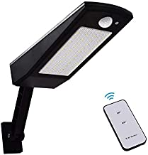 GHC LED Gloeilampen 900lm 48 Leds Nieuwste LED Solar Light buiten waterdichte verlichting for tuin, Wall vier modi Rotable...
