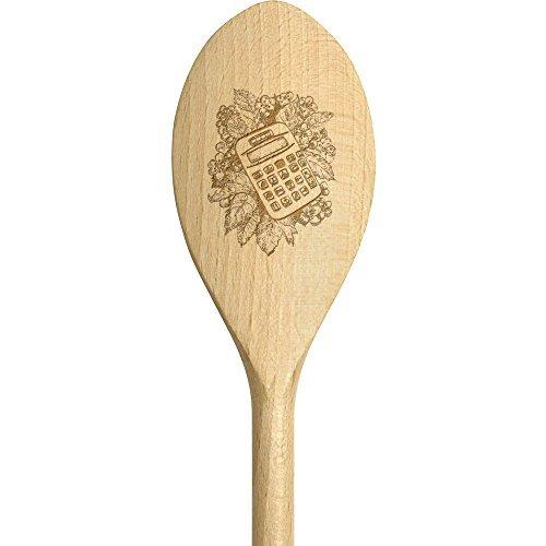 Kleiner Holzlöffel zum Kochen, Taschenrechner, lustige Gravur, Löffel, Dekoration für Küche und Wand