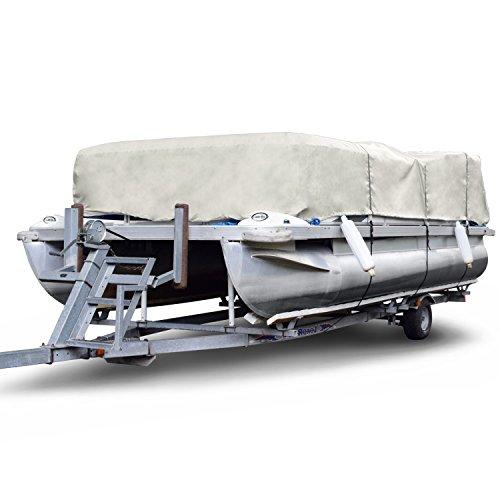 "Budge P-300-2 300 Denier Pontoon Cover Gray 20' - 24' Long (Beam Width Up to 104"") Lightweight, Waterproof, UV Resistant"