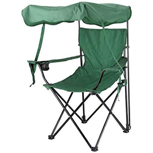 LIUQIAN Camping-Stühle Outdoor-Klappstuhl mit Sonnenschutz für Sonnenschirme