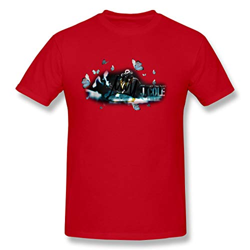 AJY J.Cole-4 Men's Basic Short Sleeve T-Shirt Red Small