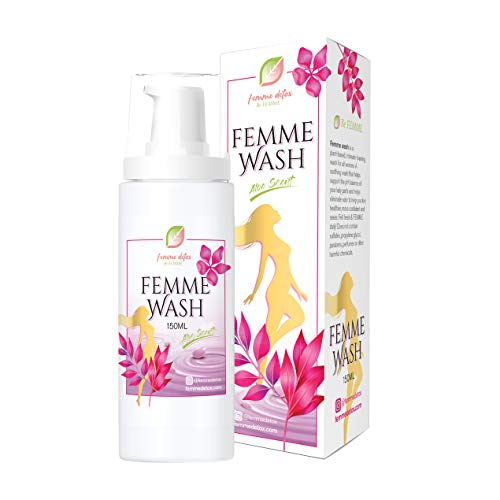 Femme Detox Vaginal Wash for Vaginal Health, Natural Feminine Wash for Women, Sulfate-Free and Paraben-Free Vaginal Moisturizer to Help Restore pH Balance for Women, 150 ML