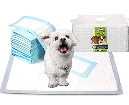 Italian Pet - Tappetini Super Assorbenti per Cani Taglia Piccola 60x90cm ( 30 Pezzi ) Traverse Assorbenti per Addestramento di Cani Gatti e Animali Domestici