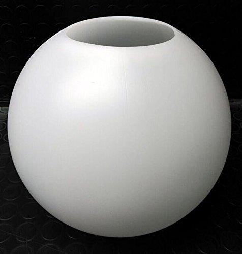 Globo iluminación, polietileno/politeno blanco Diámetro 25 centimetros con boca 10 centimetros