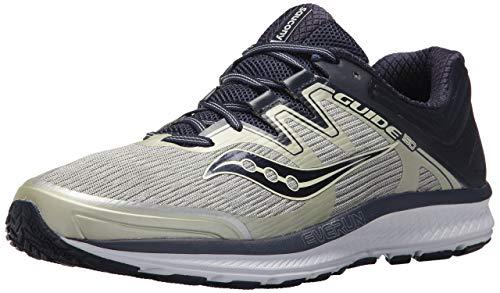 Saucony Men's Guide ISO Running Shoe, Grey/Navy, 12 Medium US